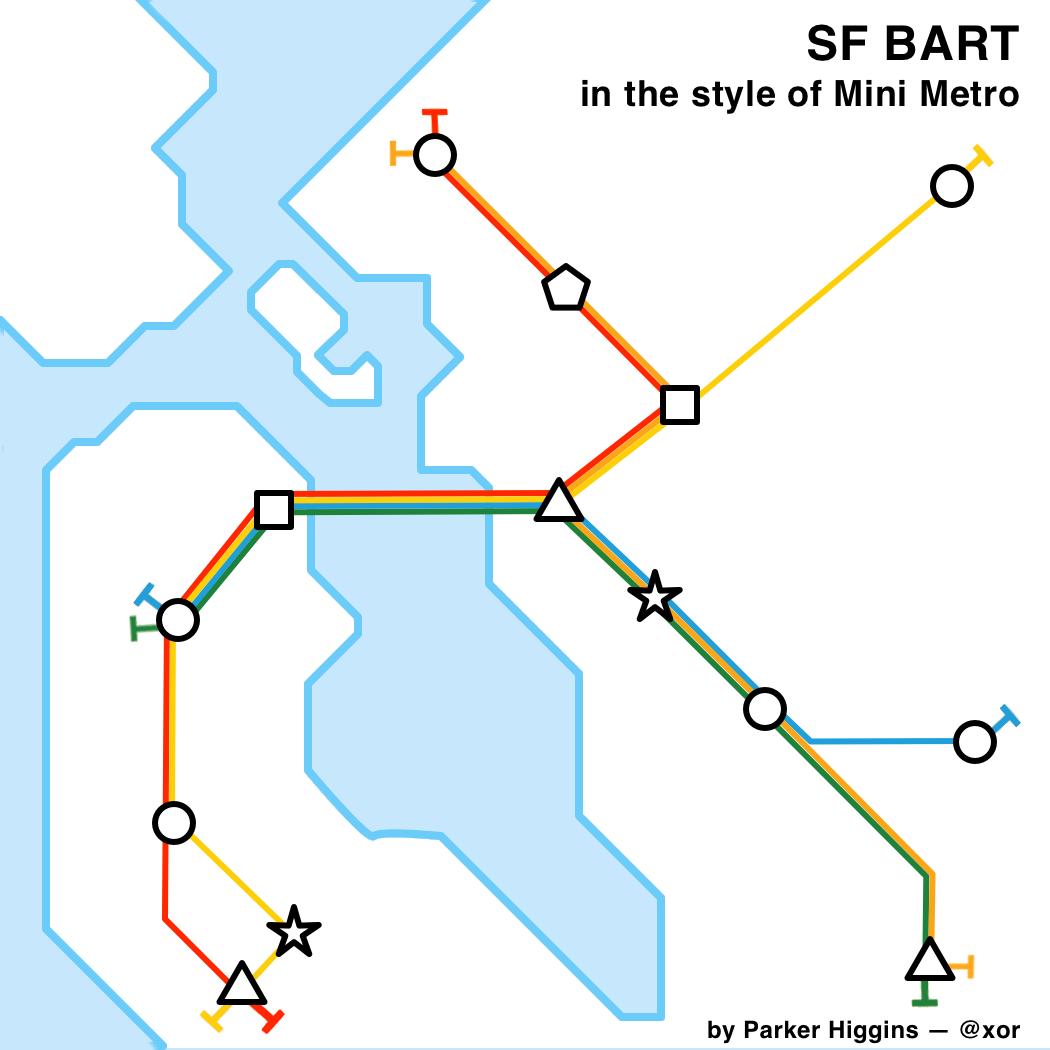 Mini Metro Fan Art Sf Bart Parker Higgins Dot Net