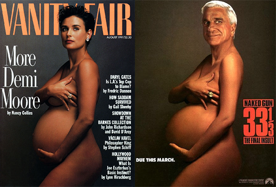 Images at issue in Leibovitz v. Paramount