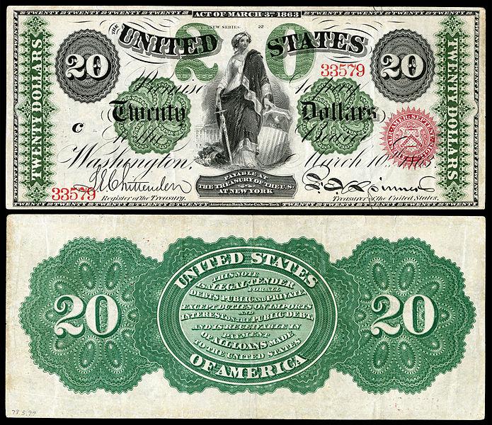 US-$20-LT-1863-Fr-126b